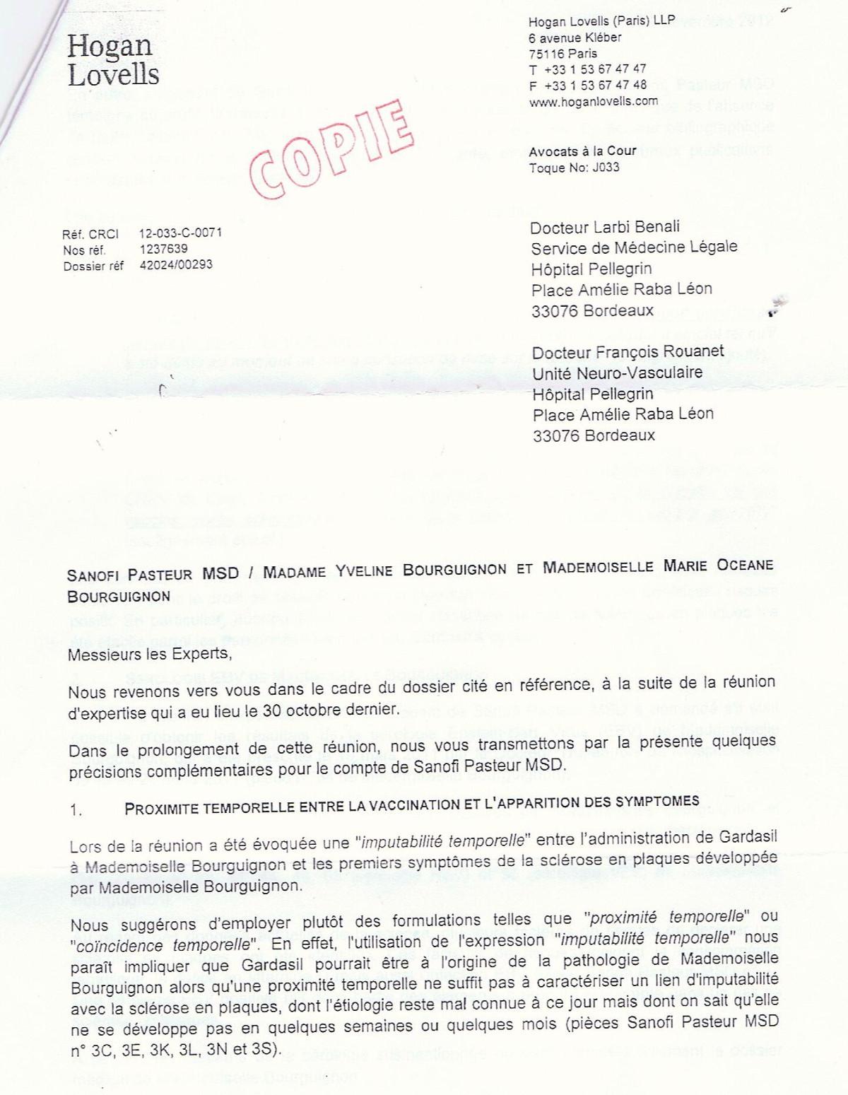 Gardasil h patite b adjuvants les vaccins peuvent ils - Office national d indemnisation des accidents medicaux ...
