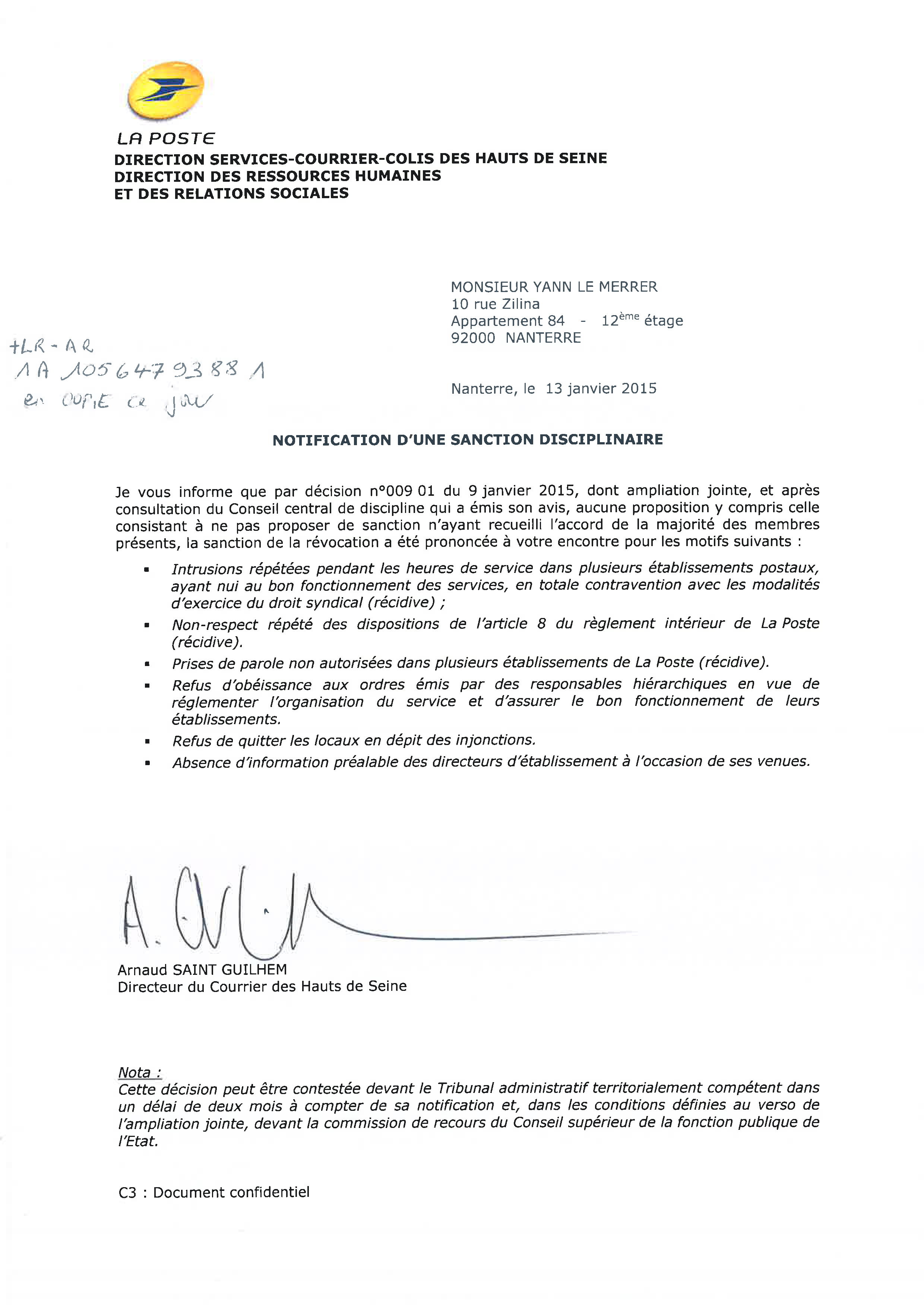 sanctionn 233 s pour engagement syndical quand la poste entrave les libert 233 s fondamentales basta