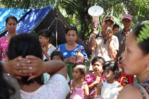 À Lais, une centaine de famille de paysans s'est mobilisée pour réclamer de la terre auprès de la compagnie PTPN 7.